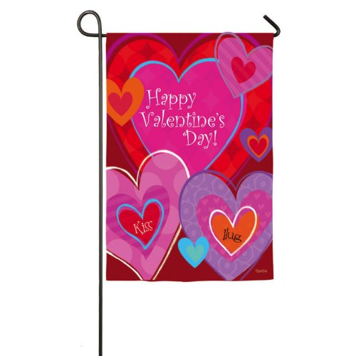 Valentines Day Garden Flag Love