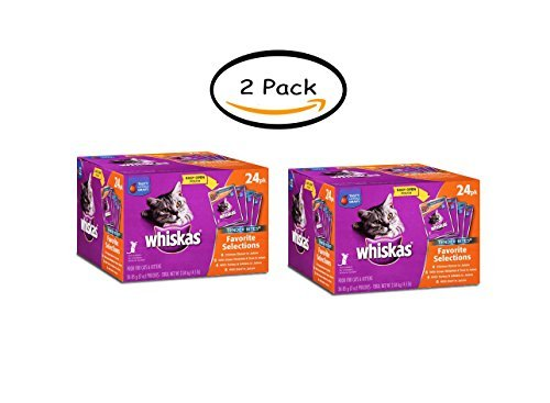 - Whiskas Pack of 2 Tender Bites Favorite Selections Variety Pack Wet Cat Food 3 Ounces 24-CT