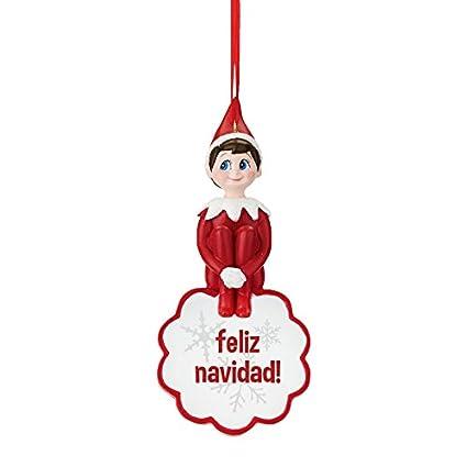 27d1122803cb9 Amazon.com  Department 56 Elf on the Shelf Snowflake Feliz Navidad ...