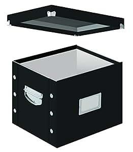 Snap-N-Store Letter-Size File Box, Black (SNS01533)