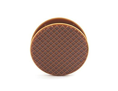 Brown Bag Embassy (Kikkerland Stroopwafel Bag Clip, Brown, Set of 4)