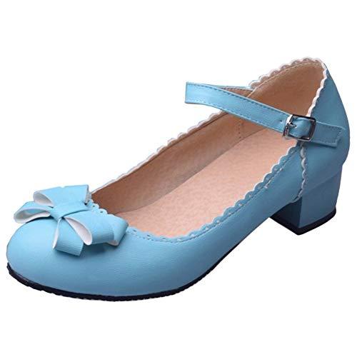 Escarpins Blue Femmes JOJONUNU Talons Bloc UHpnvwtxT