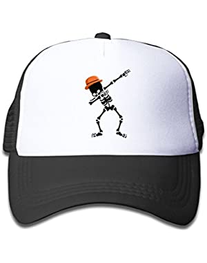 Dabbing Skeleton Baby Boy Girl Fashion Adjustable Baseball Mesh Hat