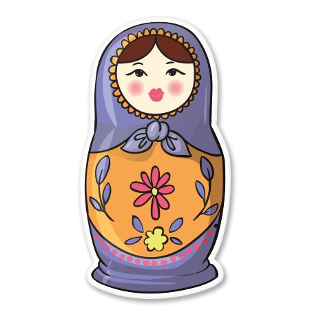 Matrioshka Russian Doll Vinyl Sticker - Car Phone Helmet - SELECT SIZE