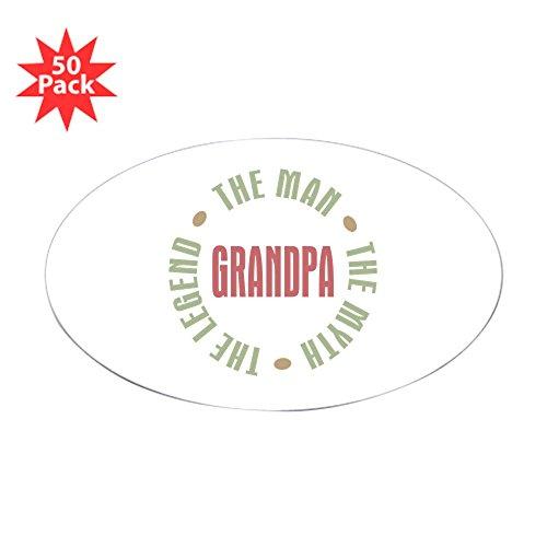 CafePress - Grandpa Man Myth Legend Oval Sticker (50 Pk) - Sticker (Oval 50 pk)
