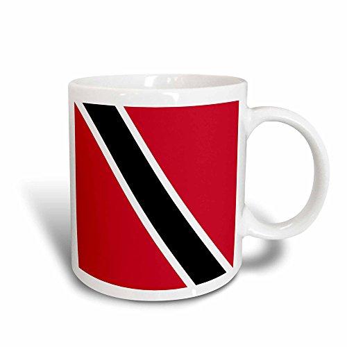 3dRose 159815_3 Flag Of Trinidad And Tobago Mug, 11 oz, Black