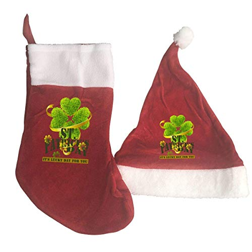 St. Patrick's Day Santa Hat & Christmas Stocking