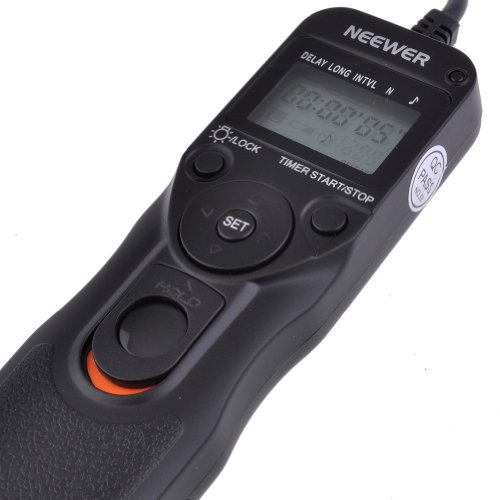 Neewer® LCD Timer Shutter Release Remote Control for Canon for Canon T4i/650D T1i/500D XT/350D XTi/400D XS/1000D XSi/450D 60D 100D 700D and Pentax Hasselblad Contax Samsung
