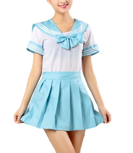 Moon Market Women Japanese School Sailor Uniform Suit Sexy Dress Cosplay Costume Anime Girl Lady Lolita Game (XL, (Child Sailor Moon Costume)