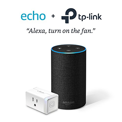 Echo (2nd Generation) – Charcoal with TP-Link Smart Plug Mini