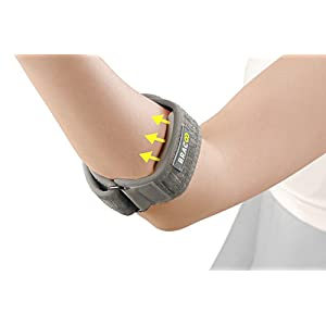 Bracoo Tennis-Golfer Elbow Strap,Support Brace with EVA Compression Pad,One Size,Gray