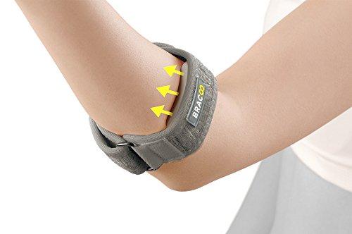 Bracoo Tennis-Golfer Elbow Quality Compression EVA for Tendonitis, Strain Relief, EP40, One