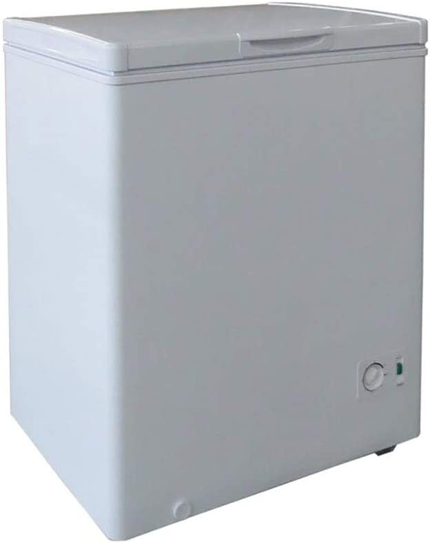 Plastic Development Group F52019 5 Cubic Foot Energy Efficient Manual Deep Freeze Garage or Basement Chest Freezer With Removable Storage Bin, White