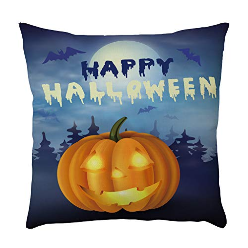 Jocome Throw Pillow Case,Home Decoration Halloween Pillow Cases Linen Pumpkin Ghosts Cushion Cover Square Target Replacement Holiday West Elm Linen Custom Boho Bench -