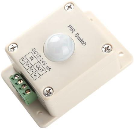 Amazon.com: BQLZR DC 12 V ~ 24 V 8 A automática LED PIR ...