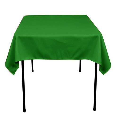 ADD&SHIP Square Polyester Tablecloth 36 x 36 inches (Kelly Green) by ADD&SHIP