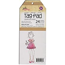 """Prima Marketing Julie Nutting Mixed Media Tag Pad, 3.5"""" by 8.5"""", Watercolor, 24 Pack"""
