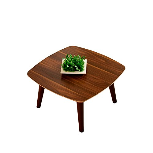 Laputa Wooden Tea Tables For Living Room, Small Wooden Coffee Table, Low Wooden Tea Table, Easy Set Up, No Tools Required(brown)