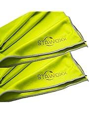 STAWOXX Polijstdoek microvezel groen, 2 stuks, veelzijdig bruikbare glazen polijstdoek, ideaal voor het reinigen van wijnglazen, champagneglazen, karaf