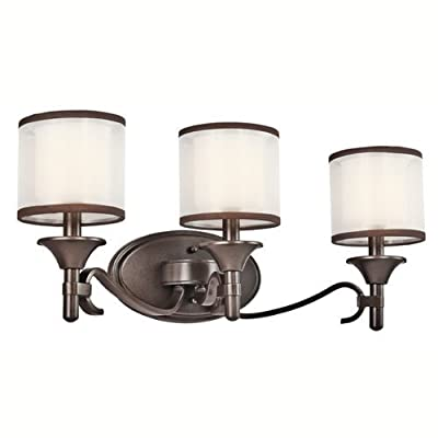 Kichler Lighting 45283MIZ 3 Light Lacey Bathroom Light, Mission Bronze by Kichler - Kichler Lighting 45283MIZ 3 Light Lacey Bathroom Light, Mission Bronze one size Mission Bronze - bathroom-lights, bathroom-fixtures-hardware, bathroom - 418cMKNRUSL. SS400  -