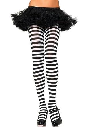 SEXY FUN zebré noir blanc Collants COSTUME DÉGUISEMENT HALLOWEEN ECOLE GEEK  BALLOT sorcière unique   grande taille journée mondiale du Livre   Amazon.fr  ... 2920c52154b