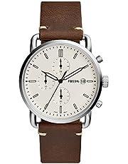 Fossil Herren Analog Quarz Uhr mit Leder Armband FS5402