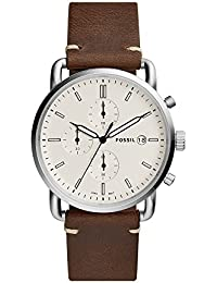 Men's 'The Commuter' Quartz Stainless Steel and Leather Casual Watch, Color:Brown (Model: FS5402)