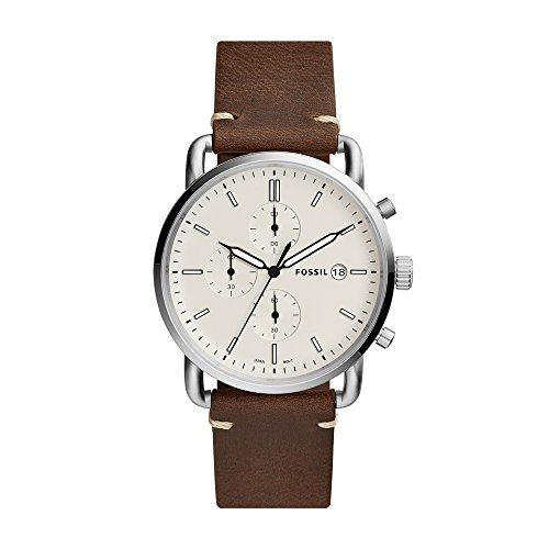 Fossil Men's Commuter Chronograph Brown Leather Watch (Style: Fs5402)