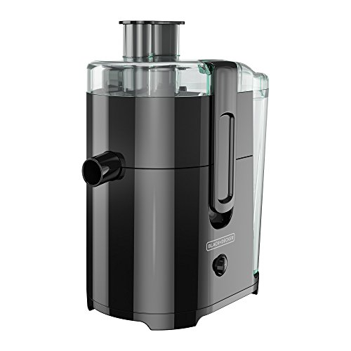 BLACK+DECKER JE2400BD 400-Watt Fruit and Vegetable Juice Extractor with Space Saving Design, Black