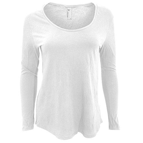 American Apparel Womens/Ladies Long Sleeve Ultra Wash T-Shirt (M) (White)