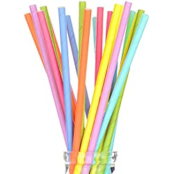 175 Count 7 3/4'' Stylish Single Color Paper Straws in Assorted Rainbow Colors of Special Curation, Best Suited for Parties, Events and Crafts (Solid Color)