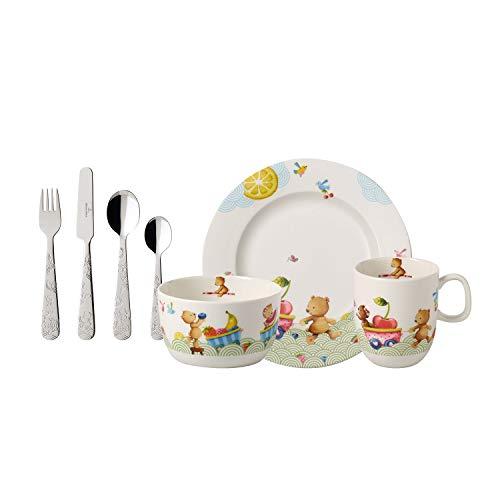 Villeroy Boch Hungry As A Bear Vajilla Infantil 7 Piezas Porcelana Premiumacero Inoxidable Blancomulticolor
