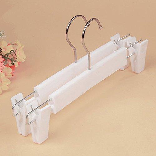 "MAZIMARK-""New Home Metal Double Clips Drying Pants Trousers Hook Hanger Rack white Black"""