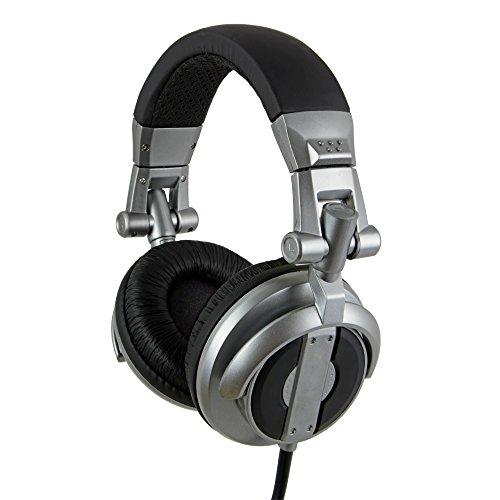 [REYTID] Foldable Over-Ear Adjustable Noise Isolating Headphones Volume Control / Microphone 50mm Drivers Stereo DJ iPhone iPad Smartphone Tablet Android Titanium 3.5mm Jack (Titanium Folding Headphone)