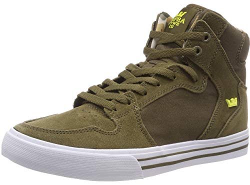 - Supra Men's Vaider Olive/Golden/White 11.5 Women / 10 Men D US D (M)
