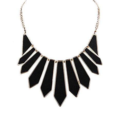 HSWE Statement Collar Necklace Black Bib Necklace Choker Necklace Party Evening Necklace for ()
