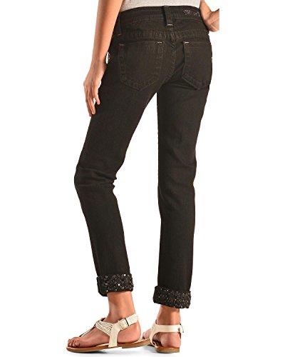 Miss Me Girls' Embellished Cuff Skinny Jeans Black 10