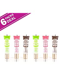 6-PACKS Kiss Broadway Clear Lip Gloss (Mint,Coconut,Rosehip Oil)