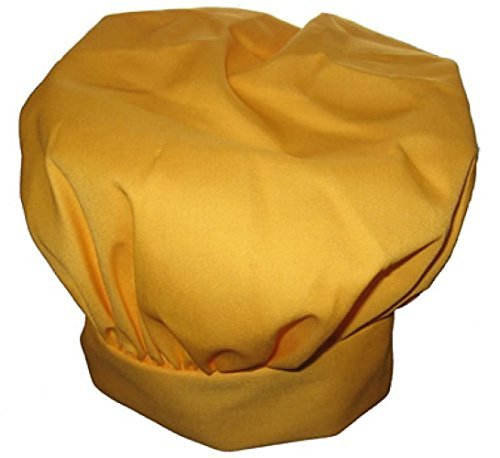 Chefskin Yellow Gold Big & Tall Chef Hat Extra 2 in Velcro Adjustable Hat by CHEFSKIN