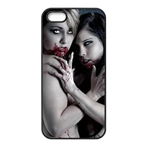 Zombie Art Series,iPhone 5,5S Case,Sexy Zombie Demon Girls Phone Case For iPhone 5,5S[Black]