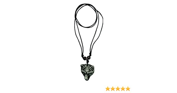 Sterling Silver Wolf Head Intelligent Loyalty Pendant Necklace Guardianship