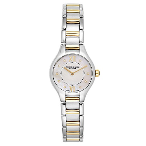 Raymond Weil Women's 'Noemia' Swiss Quartz and Stainless Steel Dress Watch, Color:Two Tone (Model: 5124-STP-00985) ()