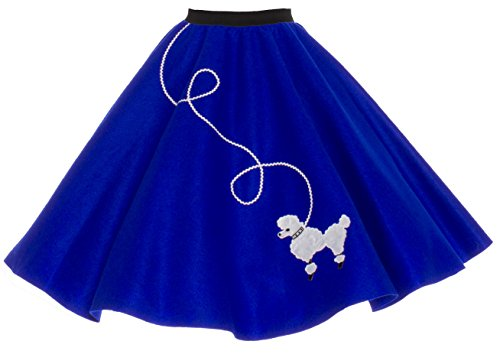 [Hip Hop 50s Shop Adult Poodle Skirt Royal Blue M/L] (Greaser Outfit)