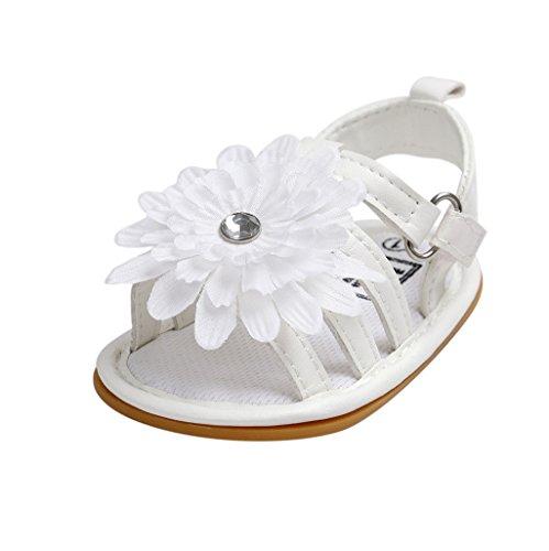 Baby Schuhe Auxma Baby Mädchen Sommer Kleinkind Prinzessin erste Wanderer Schuhe Blumen Sandalen für 0-6 6-12 12-18 Monat (6-12 M)
