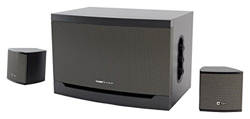 Thonet And Vander Riss 160 Watt Wood Multimedia Audio Speaker System  2 1 Stereo Speakers With Integrated Amplifier And Dual Rca Stereo Inputs  Black  Certified Refurbished