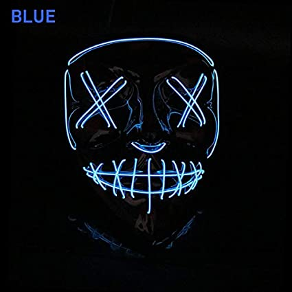 Halloween Led Máscara Luz Arriba Partido El Máscara Neon ...
