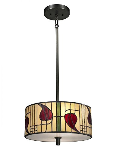 - Dale Tiffany TH13014 Mackintosh Pendant, Dark Bronze