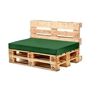 Verde resistente al agua paleta muebles cojín de asiento