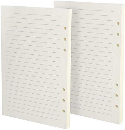 2 Stück Nachfüllblätter liniertes Papier A5 Leder Tagebuch Notizbuch Planer Tagebuch