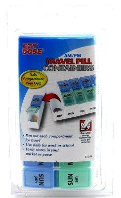 Compartiments quotidiennes pop out! - Ezy-Ezy Dose Dose 7 jours Am / Pm Voyage Pill Container